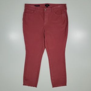 NYDJ Pink Corduroy Alina Ankle Pants Womens 14